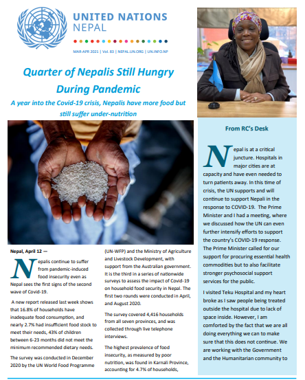 United Nations in Nepal: UN Newsletter #83