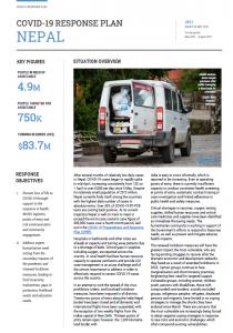 COVID-19 Response Plan Nepal May 2021