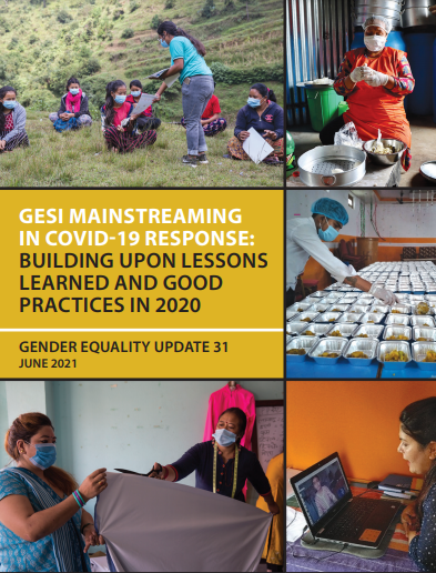 GESI Mainstreaming in COVID-19 Response: Building Up Lessons Learned and Good Practices in 2020