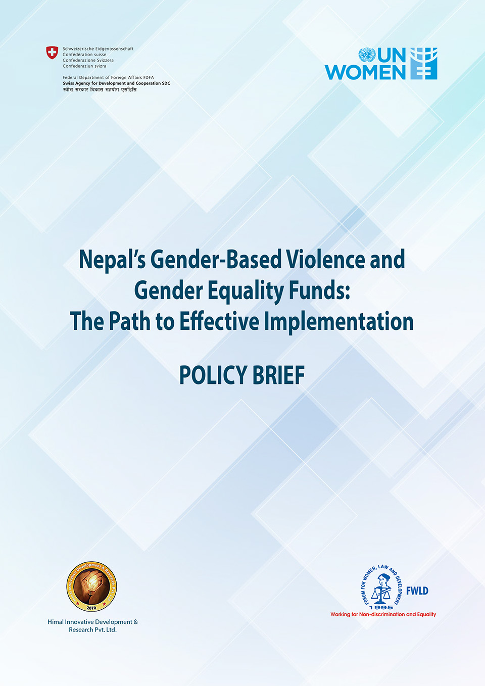 Nepal's Gender-Based Violence and Gender Equality Funds: The Path to Effective Implementation
