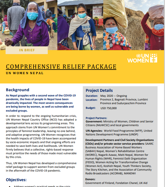 Comprehensive Relief Package