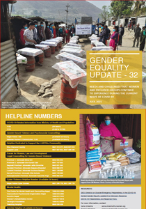 Gender Equality Update 32 on Needs and Challenges that Women and Excluded Groups Continue to Experience During the Current Wave of COVID-19