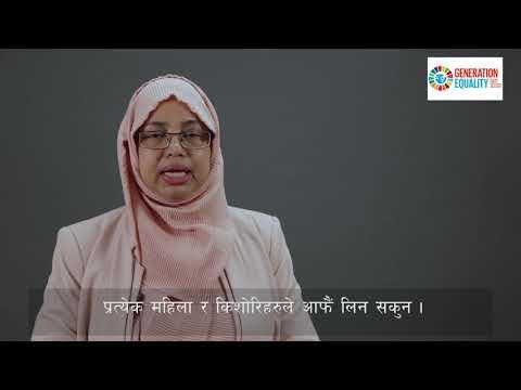 I am Hashina Begum. I am Generation Equality.