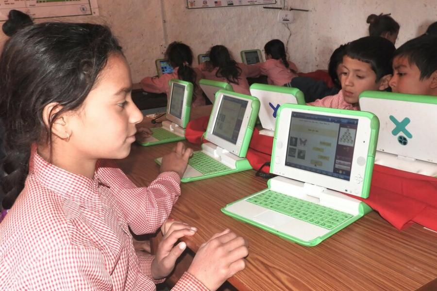 Laptops: Covid-19 interrupted digital learning at Kalika school.